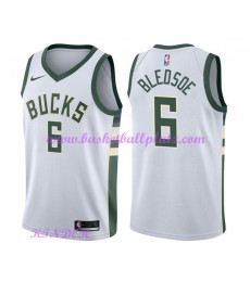 Milwaukee Bucks NBA Trikot Kinder 2018-19 Eric Bledsoe 6# Association Edition Basketball Trikots Swi..