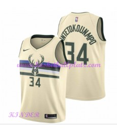 Milwaukee Bucks NBA Trikot Kinder 2018-19 Giannis Antetokounmpo 34# City Edition Basketball Trikots ..