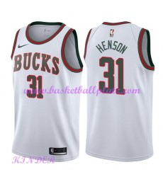 Milwaukee Bucks NBA Trikot Kinder 2018-19 John Henson 31# Weiß Hardwood Classics Basketball Trikots ..