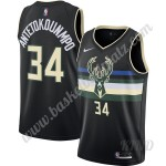 Milwaukee Bucks Trikot Kinder 2019-20 Giannis Antetokounmpo 34# Schwarz Finished Statement Edition NBA Trikots Swingman
