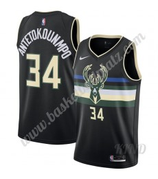Milwaukee Bucks Trikot Kinder 2019-20 Giannis Antetokounmpo 34# Schwarz Finished Statement Edition N..