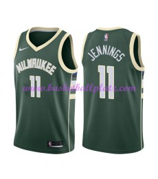 Milwaukee Bucks Trikot Herren 2018-19 Brandon Jennings 11# Icon Edition Basketball Trikots NBA Swing..