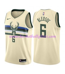 Milwaukee Bucks Trikot Herren 2018-19 Eric Bledsoe 6# City Edition Basketball Trikots NBA Swingman..