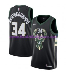 Milwaukee Bucks Trikot Herren 2018-19 Giannis Antetokounmpo 34# Statement Edition Basketball Trikots..
