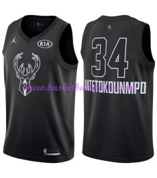 Milwaukee Bucks Trikot Herren Giannis Antetokounmpo 34# Schwarz 2018 NBA All Star Game Basketball Tr..