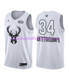 Milwaukee Bucks Trikot Herren Giannis Antetokounmpo 34# Weiß 2018 NBA All Star Game Basketball Triko..
