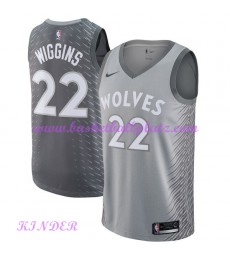 Minnesota Timberwolves NBA Trikot Kinder 2018-19 Andrew Wiggins 22# City Edition Basketball Trikots ..