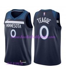 Minnesota Timberwolves NBA Trikot Kinder 2018-19 Jeff Teague 0# Icon Edition Basketball Trikots Swin..