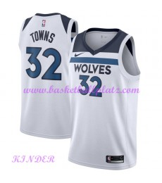 Minnesota Timberwolves NBA Trikot Kinder 2018-19 Karl Anthony Towns 32# Association Edition Basketba..