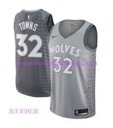 Minnesota Timberwolves NBA Trikot Kinder 2018-19 Karl Anthony Towns 32# City Edition Basketball Trik..