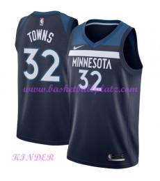 Minnesota Timberwolves NBA Trikot Kinder 2018-19 Karl Anthony Towns 32# Icon Edition Basketball Trik..