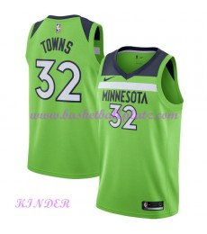 Minnesota Timberwolves NBA Trikot Kinder 2018-19 Karl Anthony Towns 32# Statement Edition Basketball..