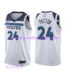 Minnesota Timberwolves NBA Trikot Kinder 2018-19 Karl Justin Patton 24# Association Edition Basketba..