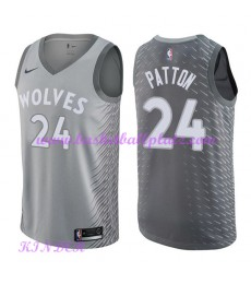 Minnesota Timberwolves NBA Trikot Kinder 2018-19 Karl Justin Patton 24# City Edition Basketball Trik..
