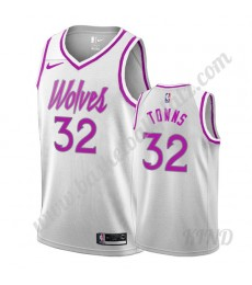 Minnesota Timberwolves Trikot Kinder 2019-20 Karl-Anthony Towns 32# Weiß Earned Edition NBA Trikots ..