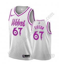 Minnesota Timberwolves Trikot Kinder 2019-20 Taj Gibson 67# Weiß Earned Edition NBA Trikots Swingman..