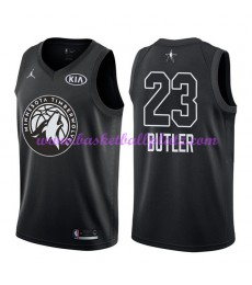 Minnesota Timberwolves Trikot Herren Jimmy Butler 23# Schwarz 2018 NBA All Star Game Basketball Trikots Swingman