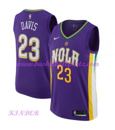 New Orleans Pelicans NBA Trikot Kinder 2018-19 Anthony Davis 23# City Edition Basketball Trikots Swi..