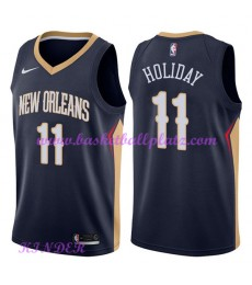 New Orleans Pelicans NBA Trikot Kinder 2018-19 Jrue Holiday 11# Icon Edition Basketball Trikots Swin..