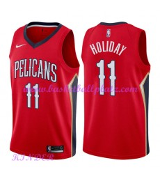 New Orleans Pelicans NBA Trikot Kinder 2018-19 Jrue Holiday 11# Statement Edition Basketball Trikots..