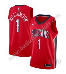 New Orleans Pelicans Trikot Kinder 2019-20 Zion Williamson 1# Rot Statement Edition NBA Trikots Swin..