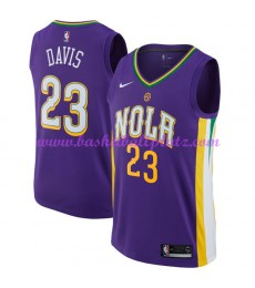New Orleans Pelicans Trikot Herren 2018-19 Anthony Davis 23# City Edition Basketball Trikots NBA Swingman