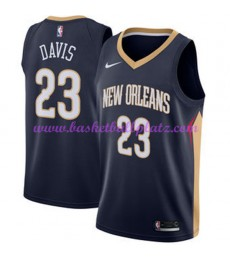 New Orleans Pelicans Trikot Herren 2018-19 Anthony Davis 23# Icon Edition Basketball Trikots NBA Swingman