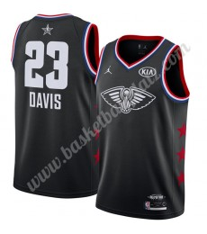 New Orleans Pelicans Trikot Herren 2019 Anthony Davis 23# Schwarz Finished All-Star Game Basketball ..