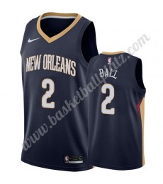 New Orleans Pelicans Trikot Herren 2019-20 Lonzo Ball 2# Marine Icon Edition Basketball Trikots NBA ..