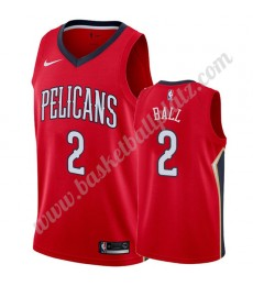New Orleans Pelicans Trikot Herren 2019-20 Lonzo Ball 2# Rot Statement Edition Basketball Trikots NB..