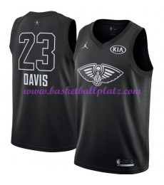 New Orleans Pelicans Trikot Herren Anthony Davis 23# Schwarz 2018 NBA All Star Game Basketball Trikots Swingman
