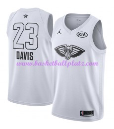 New Orleans Pelicans Trikot Herren Anthony Davis 23# Weiß 2018 NBA All Star Game Basketball Trikots Swingman