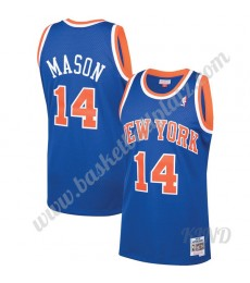 New York Knicks Trikot Kinder 1991-92 Anthony Mason 14# Blau Hardwood Classics NBA Trikots Swingman..