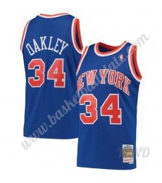 New York Knicks Trikot Kinder 1991-92 Charles Oakley 34# Blau Hardwood Classics NBA Trikots Swingman..