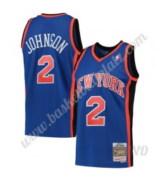 New York Knicks Trikot Kinder 1998-99 Larry Johnson 2# Blau Hardwood Classics NBA Trikots Swingman..