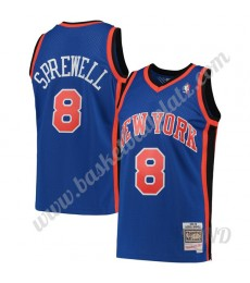 New York Knicks Trikot Kinder 1998-99 Latrell Sprewell 8# Blau Hardwood Classics NBA Trikots Swingma..
