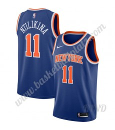 New York Knicks Trikot Kinder 2019-20 Frank Ntilikina 11# Blau Icon Edition NBA Trikots Swingman..