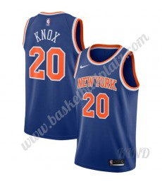 New York Knicks Trikot Kinder 2019-20 Kevin Knox 20# Blau Icon Edition NBA Trikots Swingman..