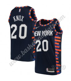 New York Knicks Trikot Kinder 2019-20 Kevin Knox 20# Marine City Edition NBA Trikots Swingman..