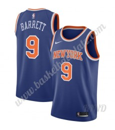 New York Knicks Trikot Kinder 2019-20 RJ Barrett 9# Blau Icon Edition NBA Trikots Swingman..