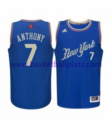 New York Knicks Trikot Herren 2015 Carmelo Anthony 7# NBA Weihnachten Basketball Trikot Swingman..
