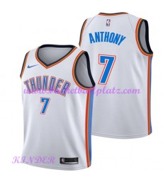 Oklahoma City Thunder NBA Trikot Kinder 2018-19 Carmelo Anthony 7# Association Edition Basketball Tr..