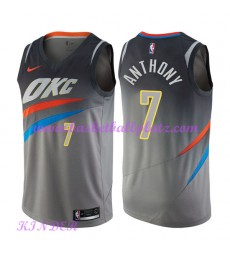Oklahoma City Thunder NBA Trikot Kinder 2018-19 Carmelo Anthony 7# City Edition Basketball Trikots Swingman