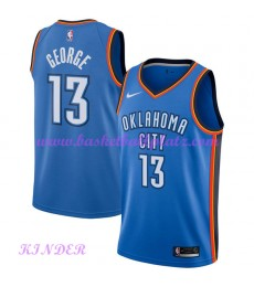 Oklahoma City Thunder NBA Trikot Kinder 2018-19 Paul George 13# Icon Edition Basketball Trikots Swingman