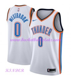 Oklahoma City Thunder NBA Trikot Kinder 2018-19 Russell Westbrook 0# Association Edition Basketball Trikots Swingman