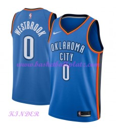 Oklahoma City Thunder NBA Trikot Kinder 2018-19 Russell Westbrook 0# Icon Edition Basketball Trikots Swingman