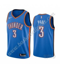 Oklahoma City Thunder Trikot Kinder 2019-20 Chris Paul 3# Blau Icon City Edition NBA Trikots Swingma..