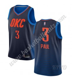 Oklahoma City Thunder Trikot Kinder 2019-20 Chris Paul 3# Blau Statement Edition NBA Trikots Swingma..