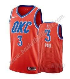 Oklahoma City Thunder Trikot Kinder 2019-20 Chris Paul 3# Orange Statement Edition NBA Trikots Swing..