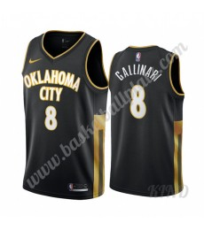 Oklahoma City Thunder Trikot Kinder 2019-20 Danilo Gallinari 8# Schwarz City Edition NBA Trikots Swi..